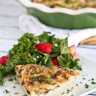 Mushroom & Sun-dried Tomato Crustless Quiche