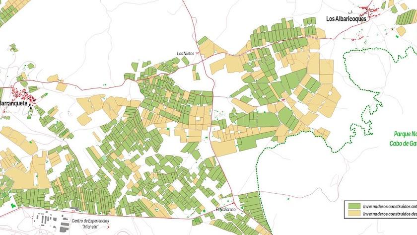 Zona de expansión agrícola en el campo de Níjar.