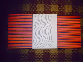 Photo: Bridget Riley inspired art by James