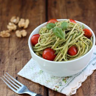 Walnut Pesto Zucchini Noodles.