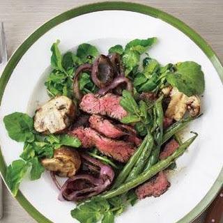 Grilled Steak, Mushroom, and Green Bean Salad