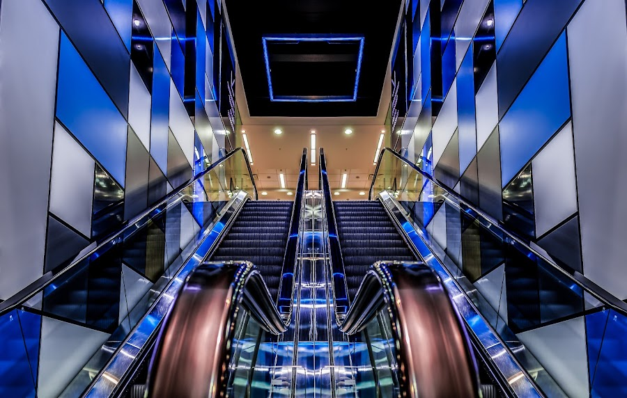 Escalator by Lee Niven - Buildings & Architecture Other Interior