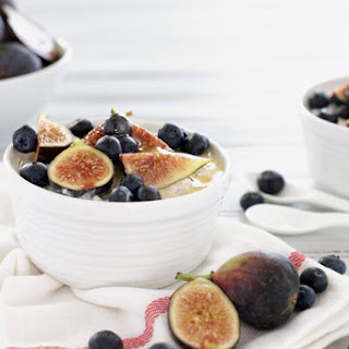 Blueberry Fig Overnight Oatmeal.