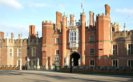 Great gatehouse at Hampton Court, Surrey