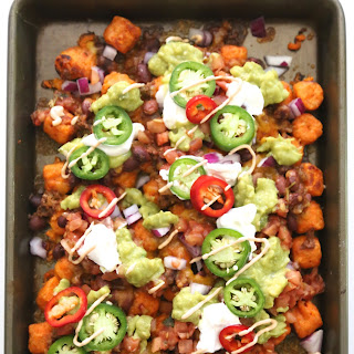 Ultimate Sweet Potato Totchos with Chipotle Aioli