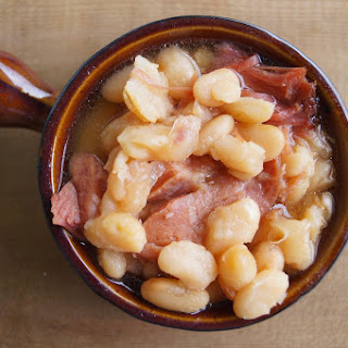 Crock Pot Ham and Beans.