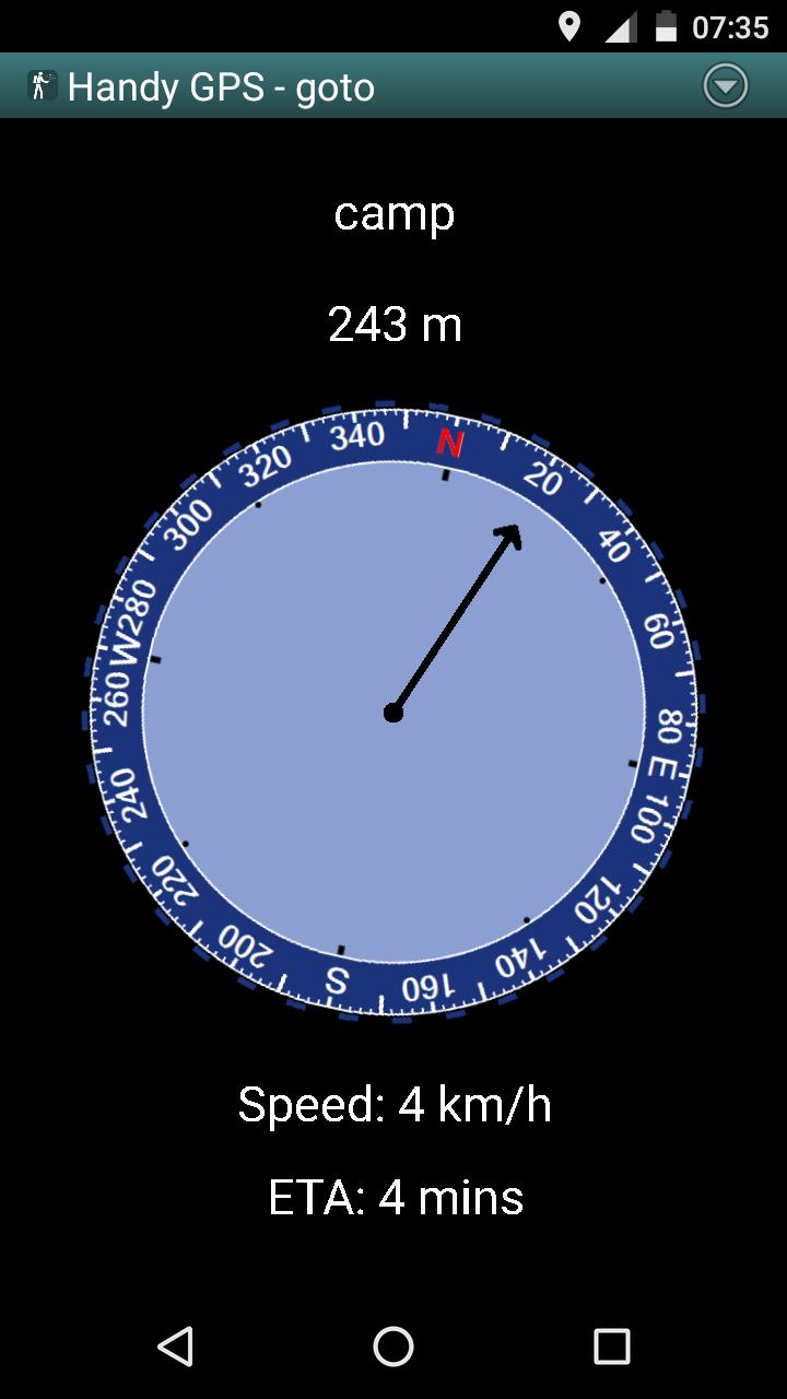 Handy GPS Screenshot 1