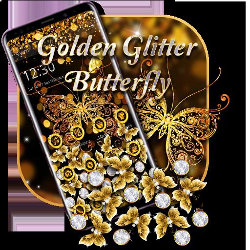 Golden Glitter Butterfly Gravity theme
