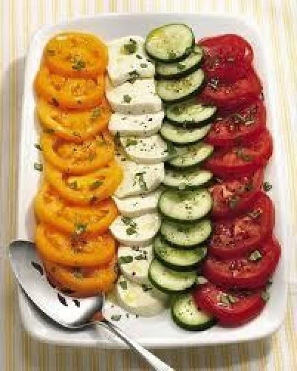 Cucumber & Tomato Salad Caprese Recipe