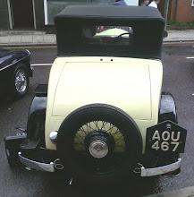 Photo: A 1935ish Austin10 cabriolet's rear spare wheel..