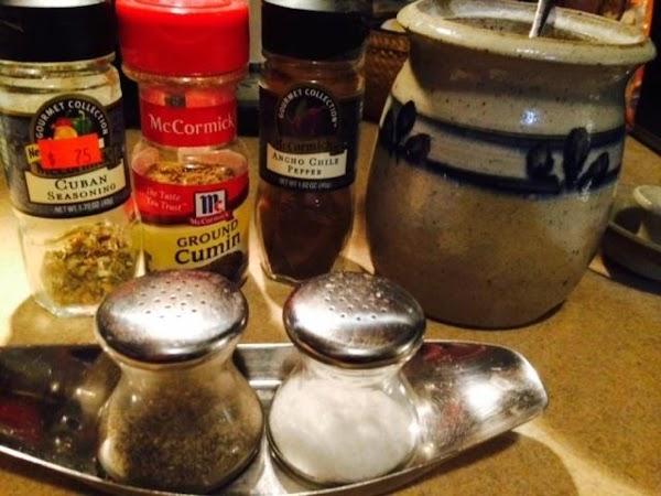 Add sugar (don't skip this), chili powder, cumin, salt and pepper to taste, and...