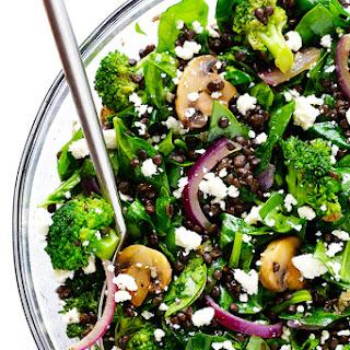 Zesty Lentil Spinach Salad
