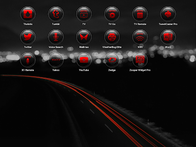Brenn Red - Icon Pack screenshot 10