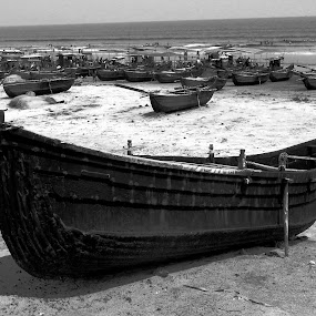 TRANSPORTATION by Ajit Kumar Majhi - Black & White Landscapes (  )