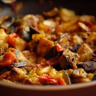 Stewed Turkey With Vegetables.