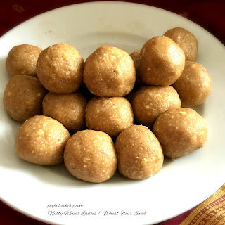 Nutty Wheat Ladoos / Wheat Flour Sweet.