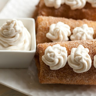 Apricot Almond Dessert Chimichangas With Cinnamon Mascarpone Cream