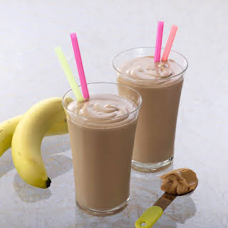 Chocolate-Peanut Butter-Banana Smoothie.