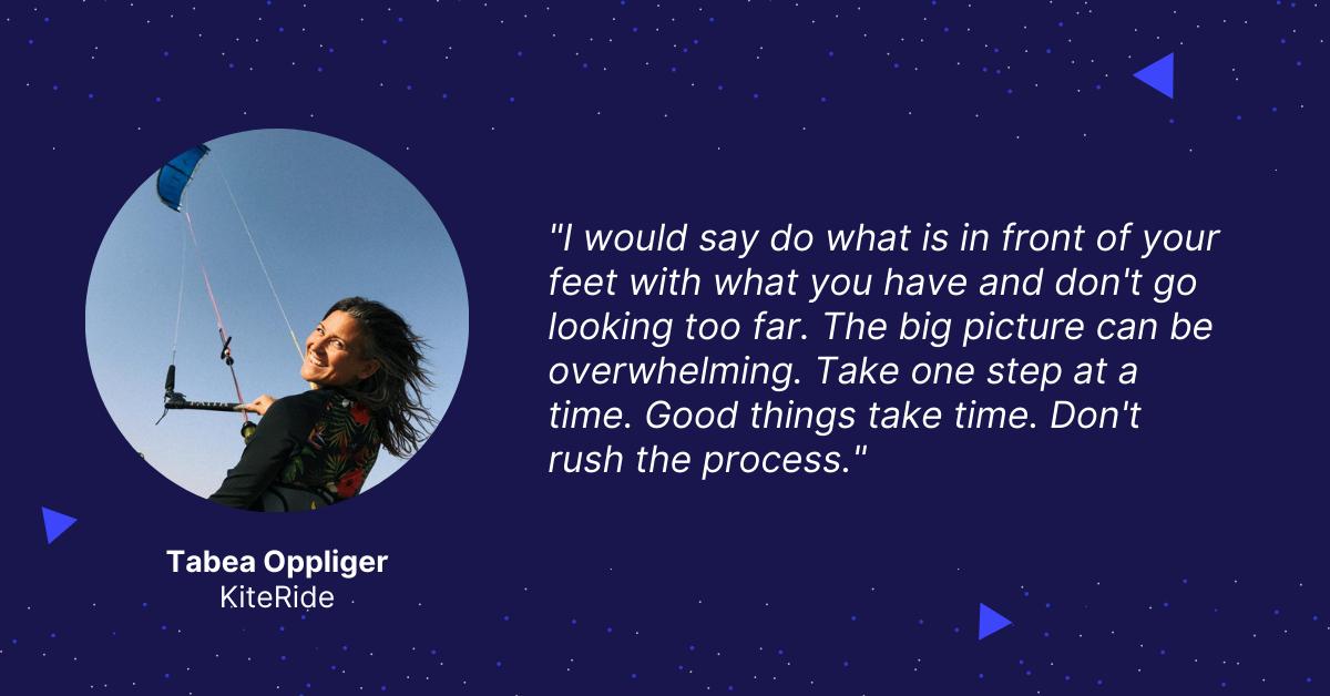Tabea Oppliger — KitePride Quote