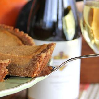 Pumpkin Tart with a Gingersnap Cookie Crust