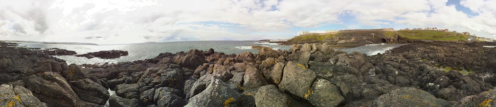 Photo: Out on the rocks looking towards Portstewart Taken at 1pm with the Raspberry Pi camera board (36 separate photographs). Stitched with Hugin #RPPA