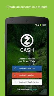 Zcash Wallet - náhled