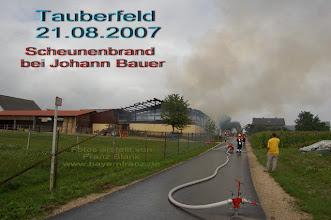 Photo: Großbrand in Tauberfeld - Gemeinde Buxheim Landkreis Eichstätt - Fotos erstellt von Franz Blank und Gertrud Heiss - www.bayernfranz.de