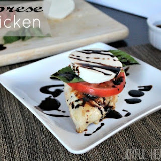Caprese Chicken with Balsamic Reduction