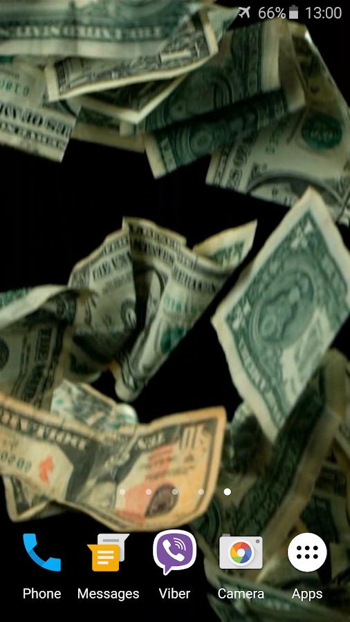 falling money 3d wallpaper pro