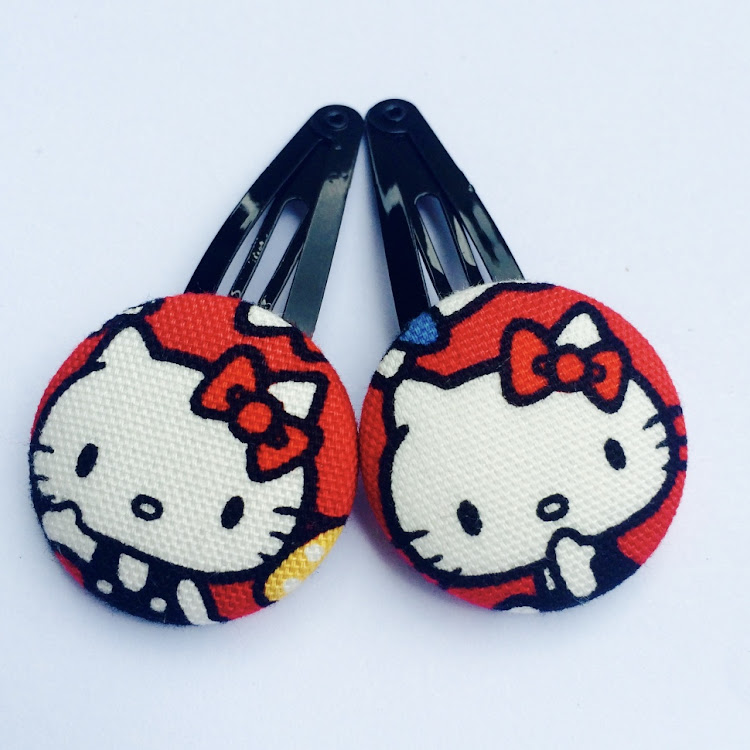 Bright Red HK Hairclips - Medium by Emma5