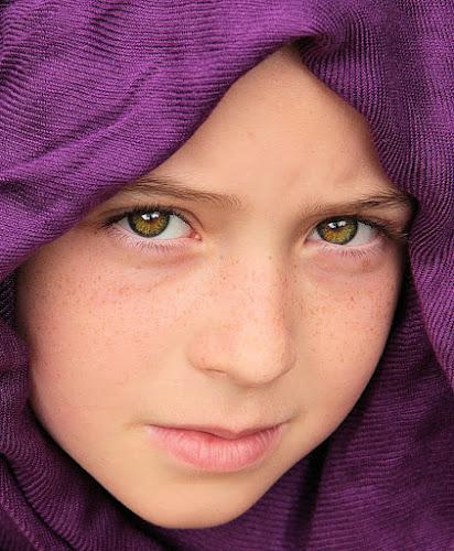 Purple Scarf by Sandy Considine - Babies & Children Child Portraits
