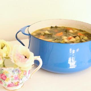 Vegan White Bean, Kale & Swiss Chard Soup Recipe