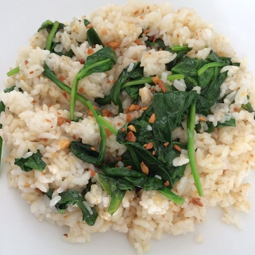 Garlic Spinach Rice