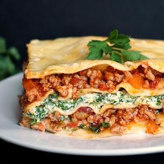 Turkey Spinach Lasagna Recipe With Ricotta.