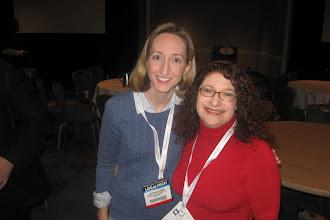 Photo: Stephanie Kimbro and Lisa Solomon at the LTNY bloggers breakfast