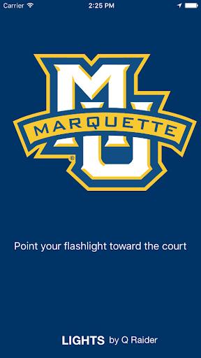 Marquette Basketball Lights