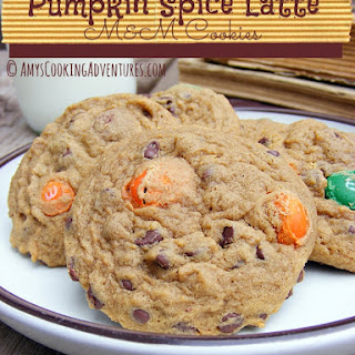 Pumpkin Spice Latte M&M Cookies