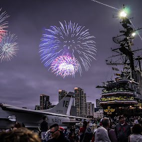 Aboard the USS Midway by Ed Mullins - Public Holidays July 4th