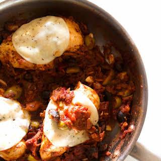 One Pan Muffuletta Chicken.