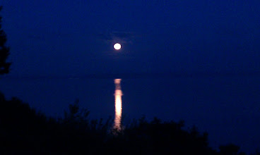 Photo: Moon setting. Home, Mukilteo, WA, USA.