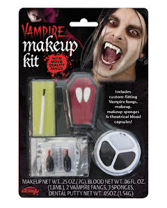 Vampyr make-up kit med tänder