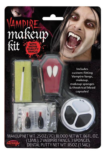 Vampyr make-up kit med tänder