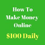 Make Money Online $100 A Day Icon