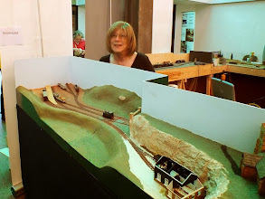 Photo: 021 Lynne Grant with another developing work in progress, Meadholme .