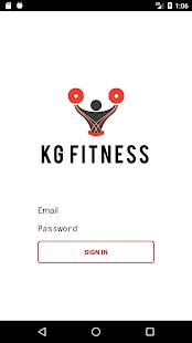 KG Online Fitness App - náhled