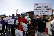 SAA cabin crew member Deon Bells, right, is among the srtikers who has beef with the national carrier.