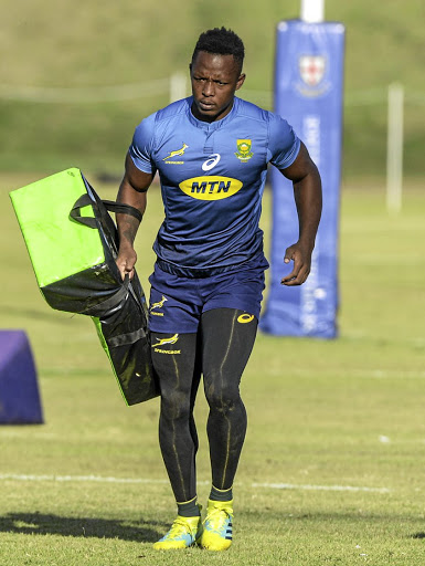 Unburdened by it all: Sibusiso Nkosi is more excited than nervous about making his Bok debut against England. Picture: SYDNEY SESHIBEDI/GALLO IMAGES