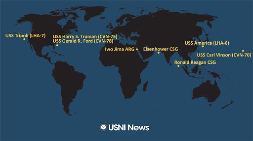 USNI News Fleet and Marine Tracker: June 21, 2021