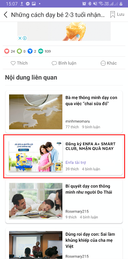 Article recommendation