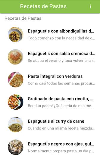 Recetas De Pastas